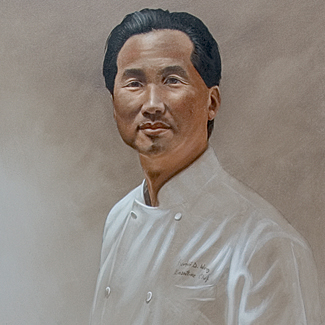 Portrait of Chef Robert Wong - Oil on Canvas - 60 x 30 - SOLD<br />