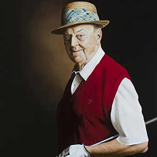 Master of the Game - Oil on Canvas - 48 x 34 - Permanent Collection of the USGA Museum<br />