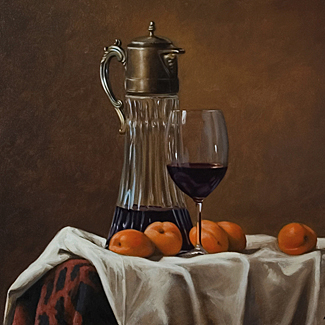 Tankard with Apricots - Oil on Canvas - 20 x 24 - $40,000<br />