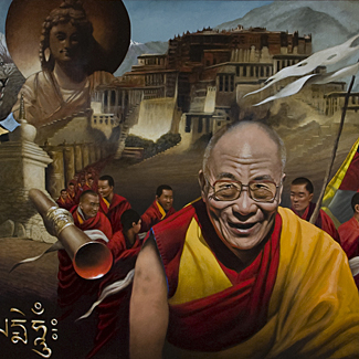 Tibet Painting - Archival Pigment Print on Paper - 16 x 20 - $250<br />
