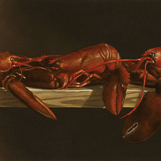 The Catch - Oil on Canvas - 16 x 30 - $35,000<br />