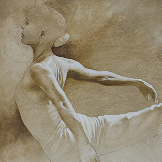Ballet Study V - Oil on Canvas - 36 x 24 - $30,000<br />